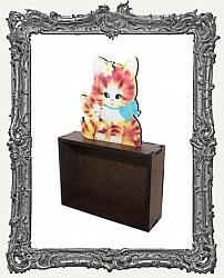 Sweet Vintage Kitty ATC Shrine Kit - Style 2 - Orange Cat and Kitten