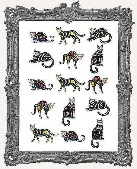 15 Dia De Los Muertos Cats Paper Cuts