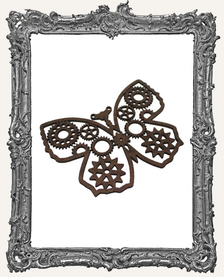 Layered Masonite Steampunk Butterfly Ornament