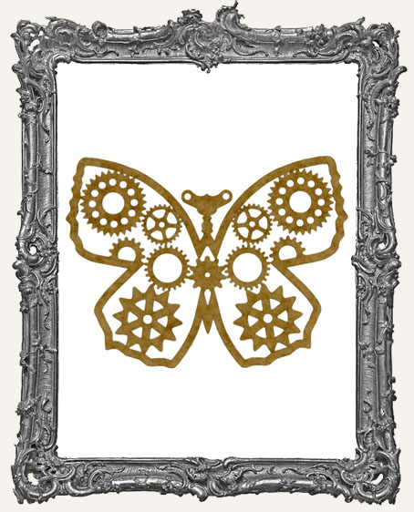 LARGE Steampunk Butterfly Mask Stencil