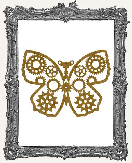 LARGE Steampunk Butterfly Mask Stencil