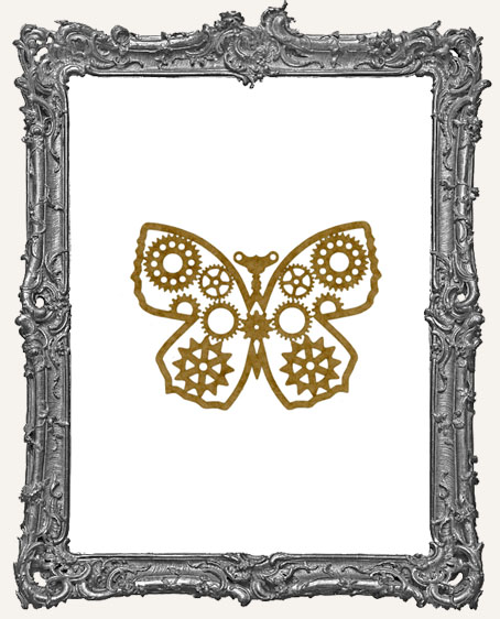 SMALL Steampunk Butterfly Mask Stencil