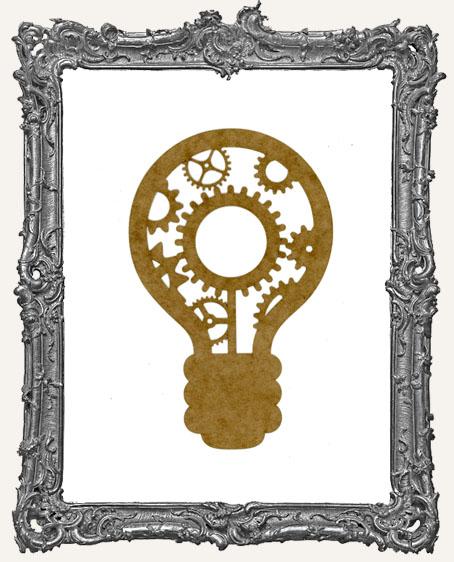 LARGE Steampunk Light Bulb Mask Stencil