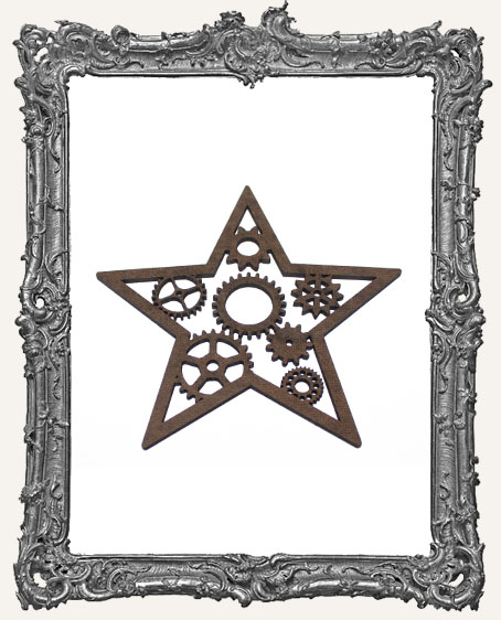 Layered Masonite Steampunk Star Ornament