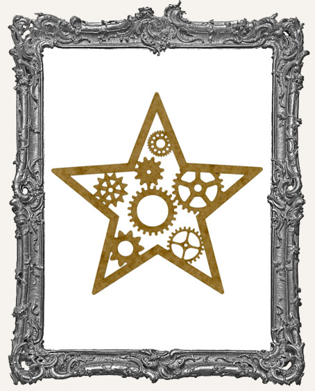 LARGE Steampunk Star Mask Stencil