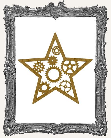 LARGE Steampunk Star Mask Stencil