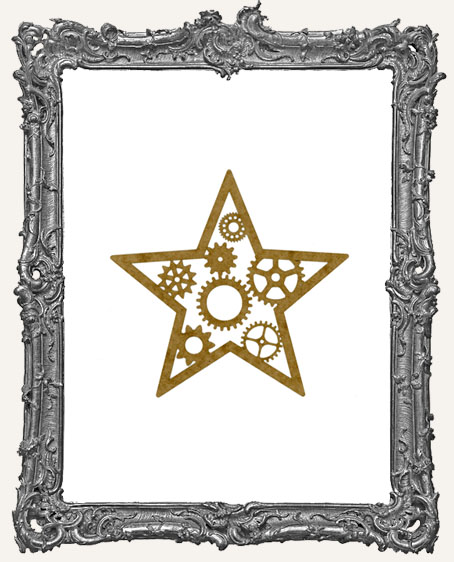 SMALL Steampunk Star Mask Stencil