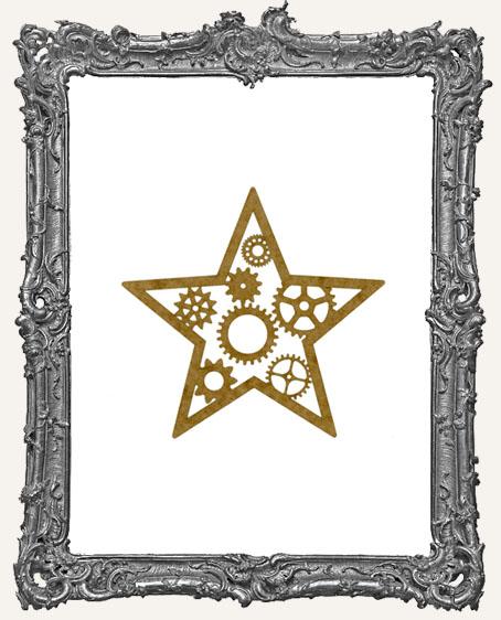 SMALL Steampunk Star Mask Stencil
