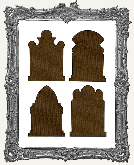 Gothic Tombstone ATC Bases VI - Set of 4