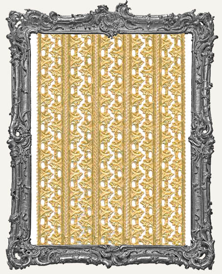 German Dresden Border Fleur ANTIQUE GOLD 10 Strips