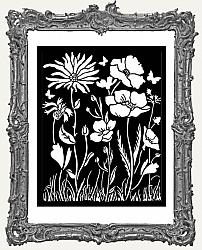 Stamperia Stencil -  Atelier Des Arts Poppy and Flower