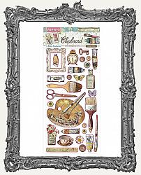 Stamperia Adhesive Chipboard - Atelier Decorations