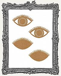 Layered Chipboard Eye Cut-Outs - 4 Pieces