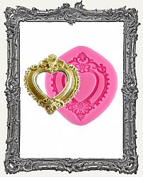 Small Pink Silicone Mold - Fancy Heart Frame