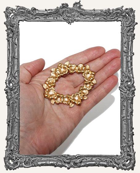 Brass Floral Frame