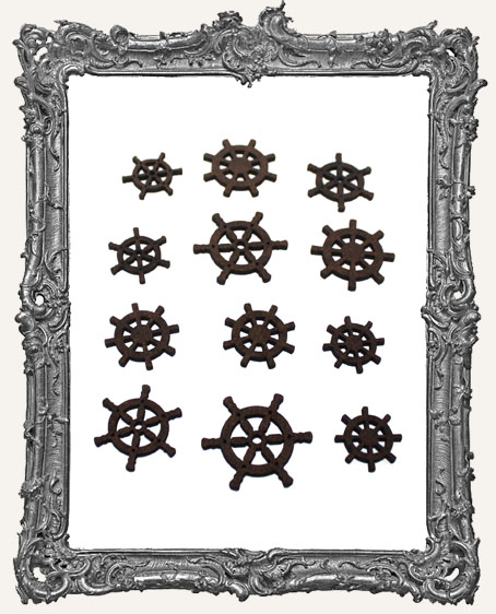 Ship Wheel Cut-Outs - 12 Pieces