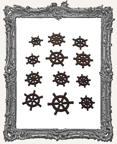 Ship Wheel Cut-Outs - 12 Pieces