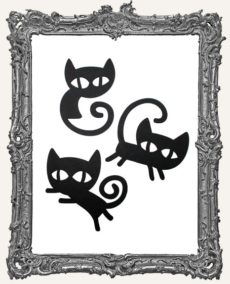 Mischievous Black Cat Tags Style 1 - Set of 3