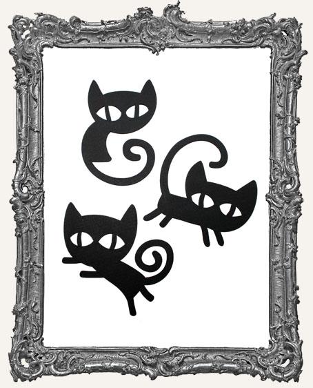 Mischievous Black Cat Tags Style 1 - Set of 3