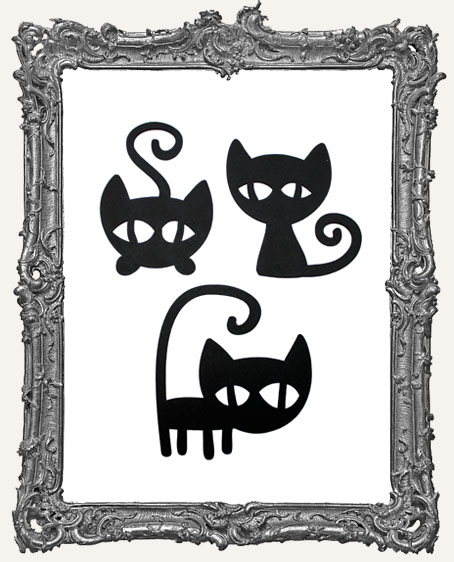 Mischievous Black Cat Tags Style 2 - Set of 3