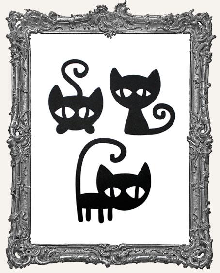Mischievous Black Cat Tags Style 2 - Set of 3