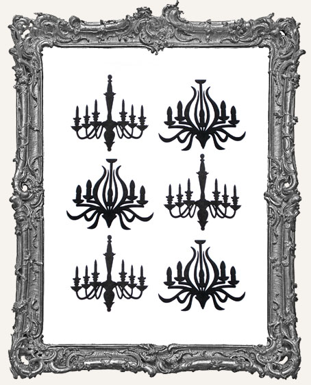 Haunted Mansion Chandelier Cut-Outs - 6 Pieces
