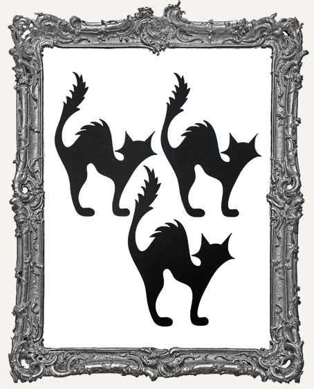 Spooky Black Cat Tags - Set of 3