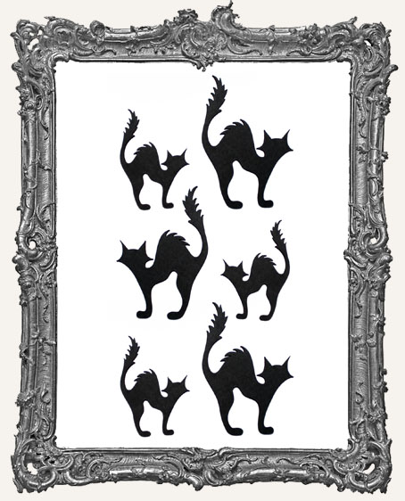 Spooky Black Cat Cut-Outs - 6 Pieces