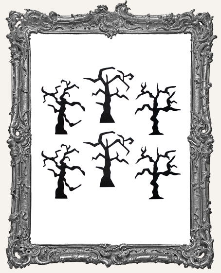 Spooky Tree Cut-Outs - 6 Pieces