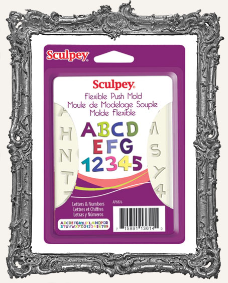Sculpey Flexible Push Mold - Letters and Numbers