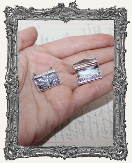 Silver Hinged Love Letter Charms - Set of 2