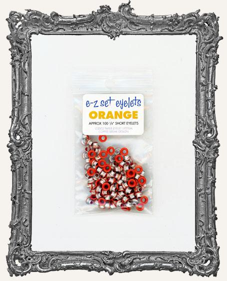 "E-Z Set Eyelets - 1/8"" Short Orange"