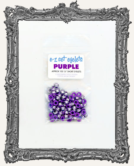 "E-Z Set Eyelets - 1/8"" Short Purple"