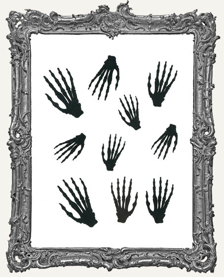 Skeleton Bone Hand Cut-Outs - 10 Pieces