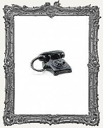 Miniature Black Rotary Dial Table Phone