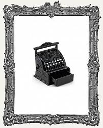 Miniature Black Antique Metal Cash Register