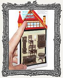 Extra Tiny Miniature Dining Room Set - 8 Pieces