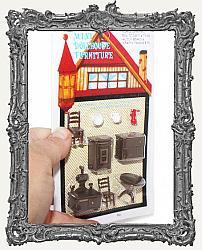 Extra Tiny Miniature Kitchen Room Set - 9 Pieces