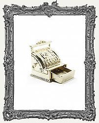 Miniature Gold Antique Metal Cash Register