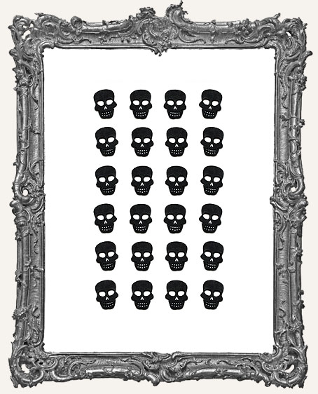 Tiny Skull Cut-Outs - 24 Pieces