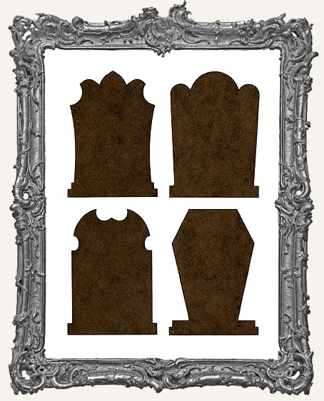 Gothic Tombstone ATC Bases IV - Set of 4