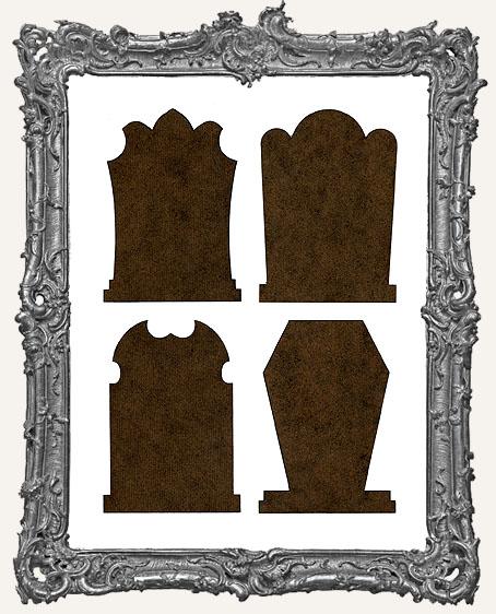 Gothic Tombstone ATC Bases IV - Set of 4