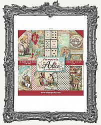 Stamperia Double-Sided Paper Pad 8X8 - Alice in Wonderland