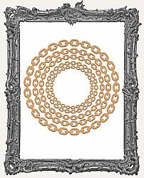 Chipboard Steampunk Chain Frame Cut-Outs - Round - 5 Pieces