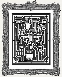 Stamperia Stencil - Microchip