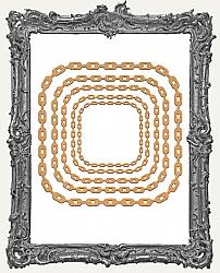 Chipboard Steampunk Chain Frame Cut-Outs - Square - 5 Pieces