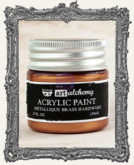 Finnabair - Art Alchemy - Metallique Acrylic Paint - Brass Hardware