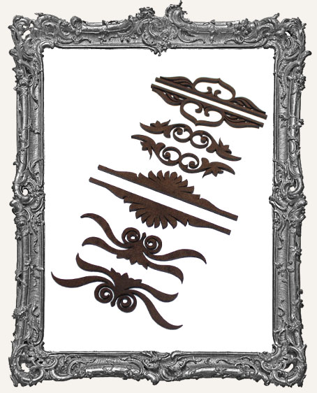 Victorian Flourish Cut-Outs - 8 Pieces