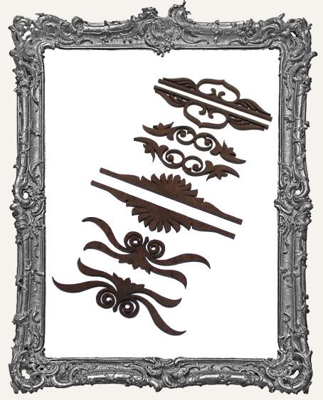Victorian Flourish Cut-Outs - 8 Pieces