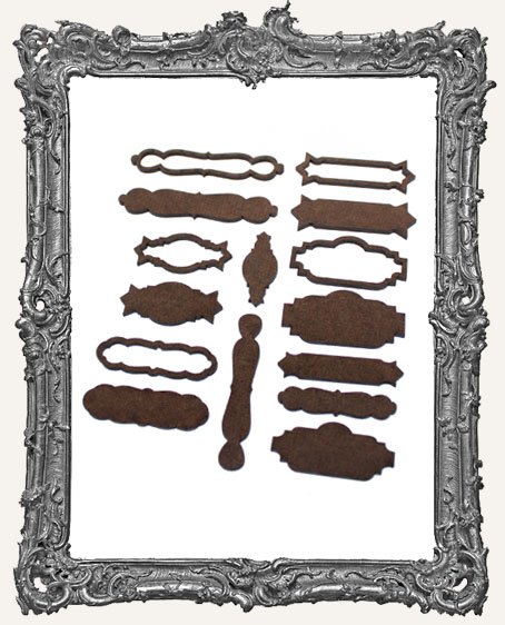 Label Pull Style Frame Cut-Outs - Set of 5